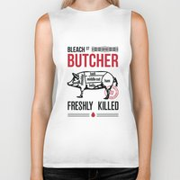 butcher billy Biker Tanks featuring Butcher by rodehed
