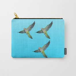 Flying parakeets Carry-All Pouch