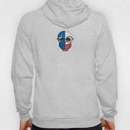 Baby Owl with Glasses and Texas Flag Hoody