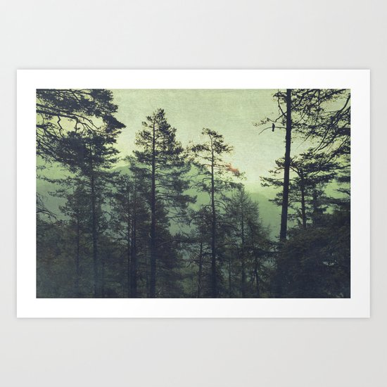the wind was the only sound Art Print