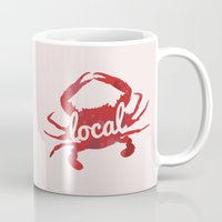maryland Mugs featuring Maryland Red Crab Local by O'Postrophy