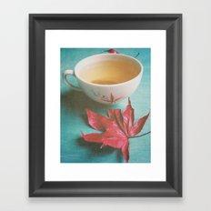 Retro Tea Framed Art Print