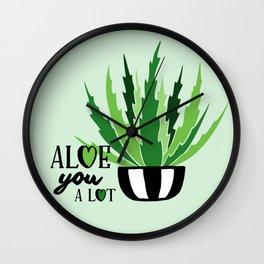 Aloe You A Lot Wall Clock