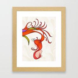 Strawberry Hair Framed Art Print