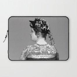 Tattooed Victorian Woman Laptop Sleeve