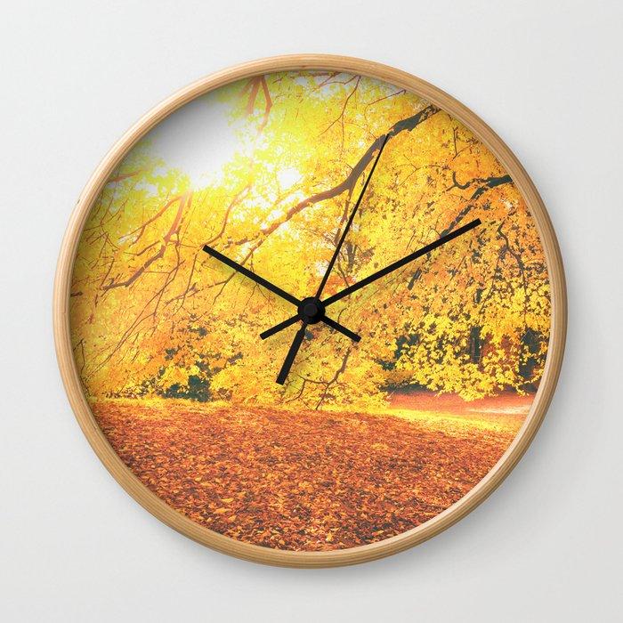 New York City Autumn Sun Wall Clock