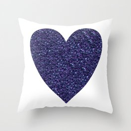 Sparkling Heart blue Throw Pillow