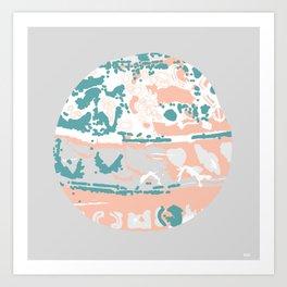 Pastel Pom Pom Art Print