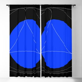 Balck and Blue Blackout Curtain