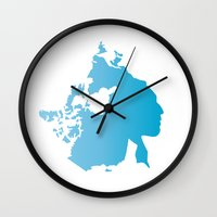 canada Wall Clocks featuring Canada by johnkark
