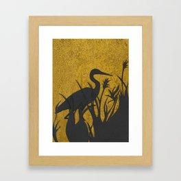 Heron on Lake of the Isles, Minneapolis, Minnesota Framed Art Print