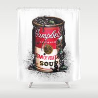 vegetable Shower Curtains featuring Cream of Vegetable by Daryll Peirce