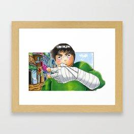 Master of the drunken fist Framed Art Print