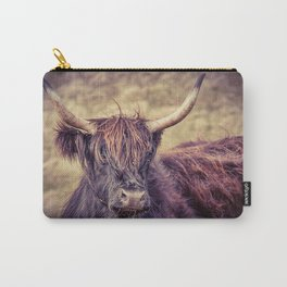 Long Horn Highland Cow Carry-All Pouch