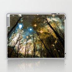 Black Trees Blue Olive Brown Space Laptop & iPad Skin