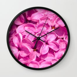 Pink Lilacs by Teresa Thompson Wall Clock