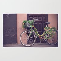 bicycle Area & Throw Rugs featuring Bicycle by INK Photos