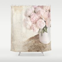 shabby chic Shower Curtains featuring Shabby by Lisa Smith
