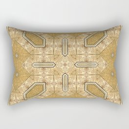 Victorian Art Deco Medieval Pattern light brown SB20 Rectangular Pillow
