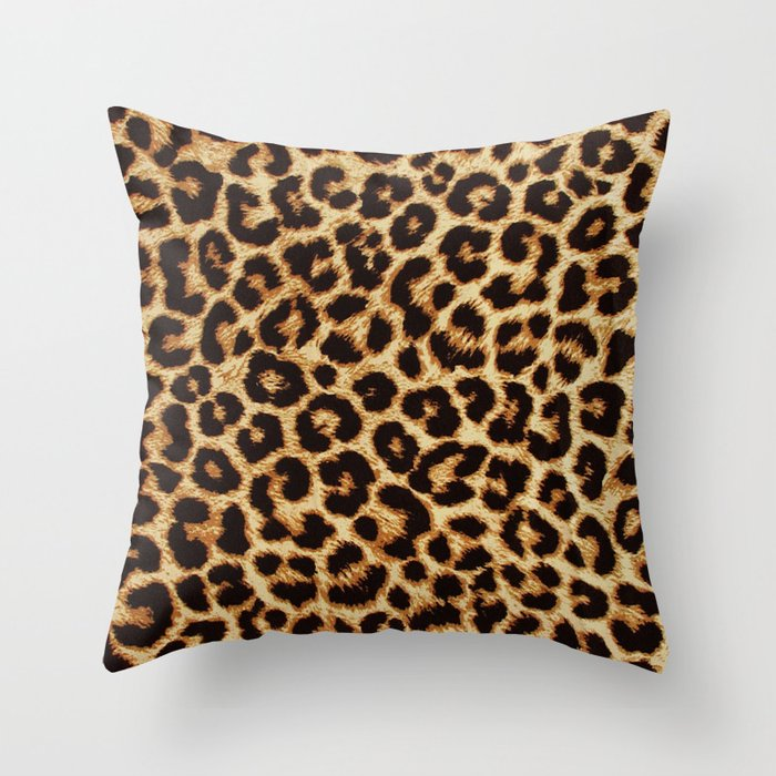 Real Leopard Throw Pillow By 1chrisafia Society6