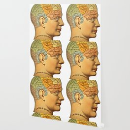 Phrenology | A Picture of Good Health circa 1881 Wallpaper