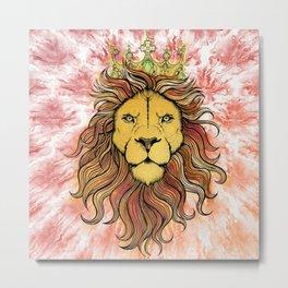King The Lion Metal Print