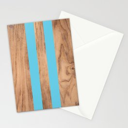Striped Wood Grain Design - Light Blue #807 Stationery Cards