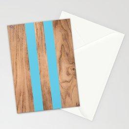 Wood Grain Stripes - Light Blue #807 Stationery Cards