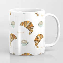 Bonjour (Croissant and Coffee) Coffee Mug