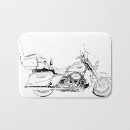 Motorcycle Ultra Classic Electra Glide, street bike, gift for men Bath Mat