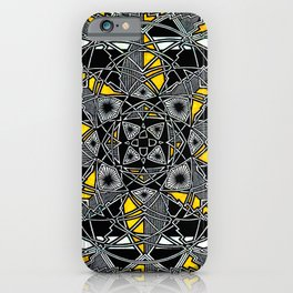 Yellow Cannabis Leaf iPhone Case