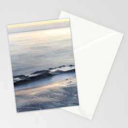 Seascape with beautiful rocks during a sunset. Costa del Sol, Andalusia, Spain. Stationery Cards