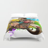 silent Duvet Covers featuring Silent by Don Kuing