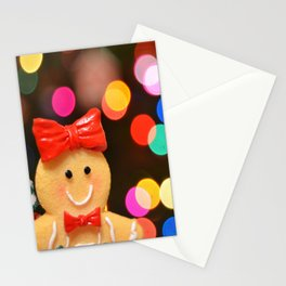 Gingerbread Bokeh Stationery Cards