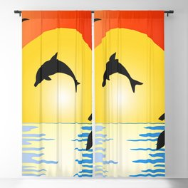 Sunset Beach Blackout Curtain