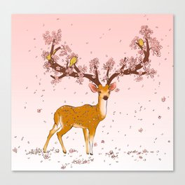 Blooming stag Canvas Print