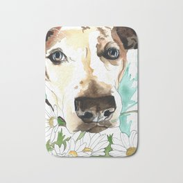 Watercolor Wildflowers & her Bestie Bath Mat