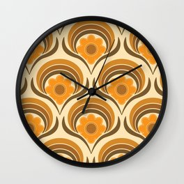 Orange  Daisy Dream Wall Clock