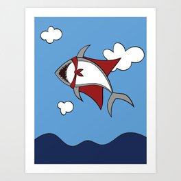 Super Shark Art Print