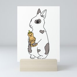honey bunny  Mini Art Print