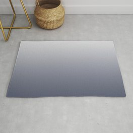 Ombre River Bed White Rug