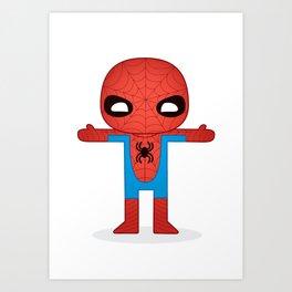 SPIDER MAN ROBOTIC Art Print