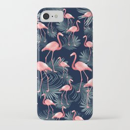 Summer Flamingo Palm Night Vibes #1 #tropical #decor #art #society6 iPhone Case