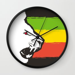 Rasta Lions (The Kingdom) Wall Clock