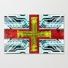 circuit board guernsey Canvas Print