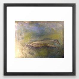 Whale Deep Framed Art Print