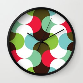 Geometric Pattern 8 (waves) Wall Clock