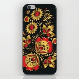Golden russian folk iPhone Skin