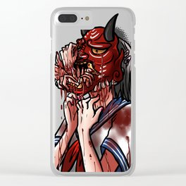 Get Out - Oni Masked School Girl Clear iPhone Case