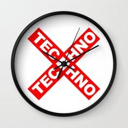 Techno Wall Clock